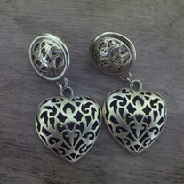 Heart Dangling Earrings
