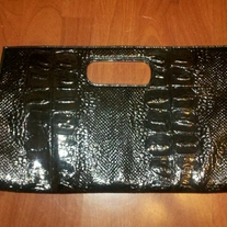 Rectangular Black Clutch