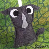 Felt Animal Ornament - Reginald the Rhino