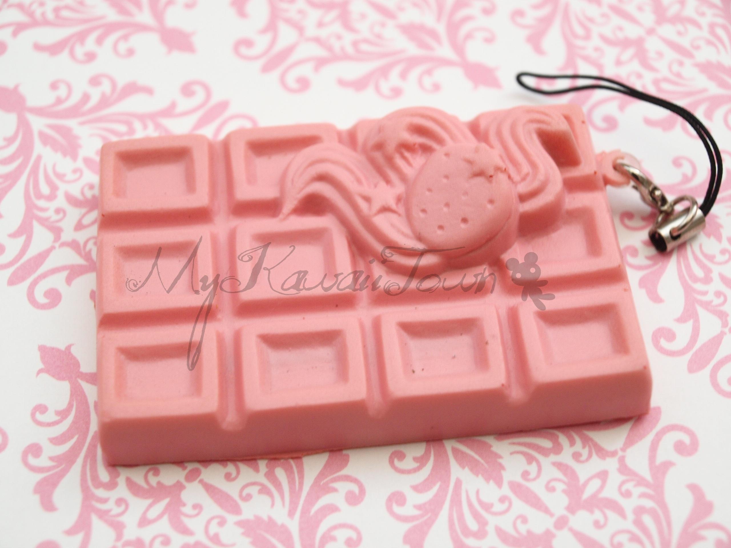 Squishy Cracking Chocolate Bar : Mykawaiitown Squishy Cracking Strawberry Chocolate Bar Online Store Powered by Storenvy