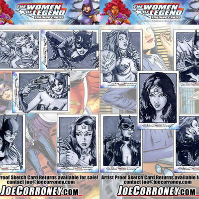 Dc comics women of legend sketch card art