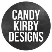 Candy_kirby_designs_round_chalkboard_logo