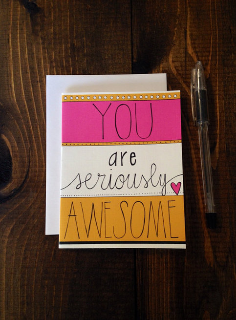 Quot You Are Seriously Awesome Quot Hand Drawn Greeting Card On Storenvy
