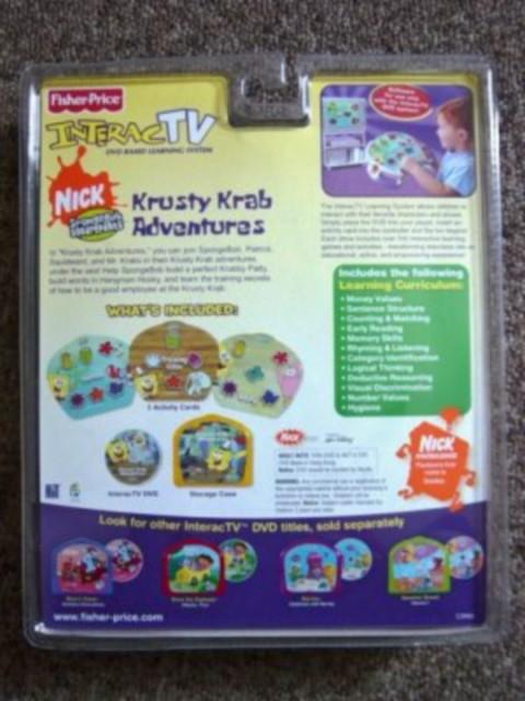 Fisher Price Interac Tv Spongebob Squarepants Krusty Krab