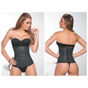 49eac3cffb Latex Waist trainer (Long)Black 10 inch back 12