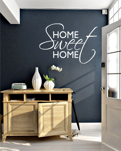 home sweet home quote sticker home decor · moonwallstickers
