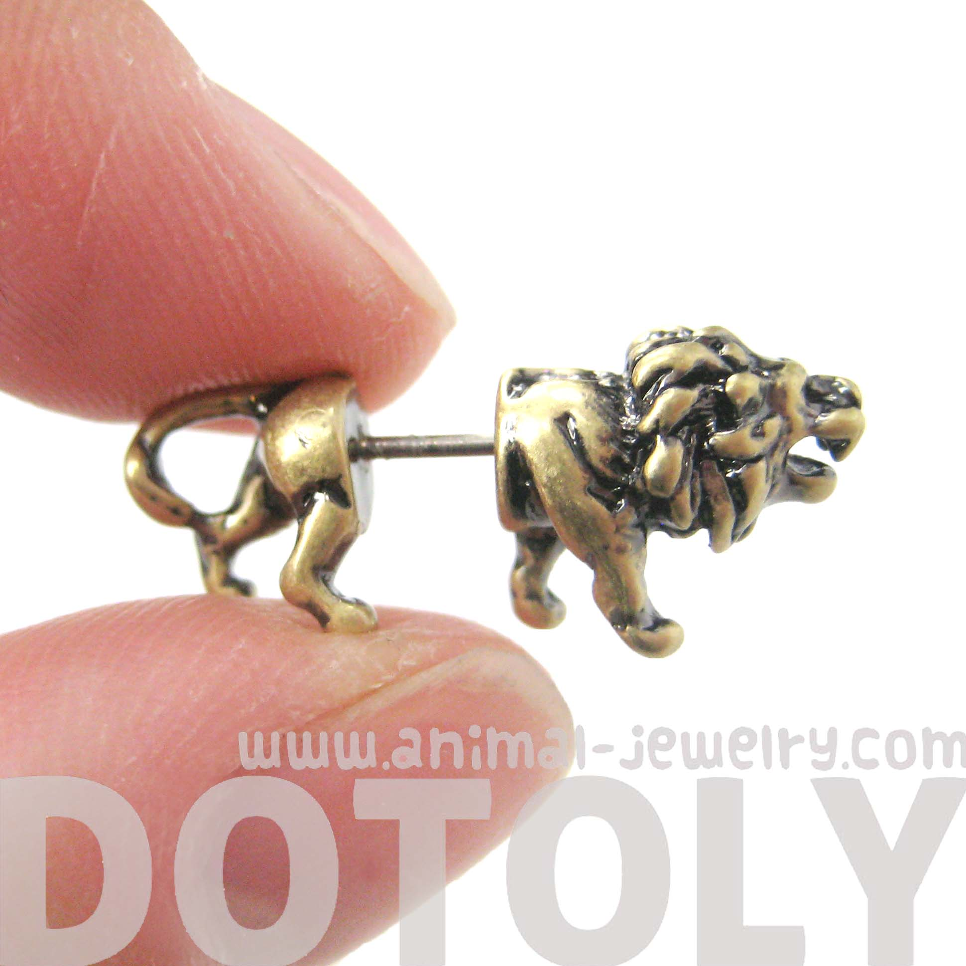 gauges that look like earrings 3d realistic animal stud earrings in 7287