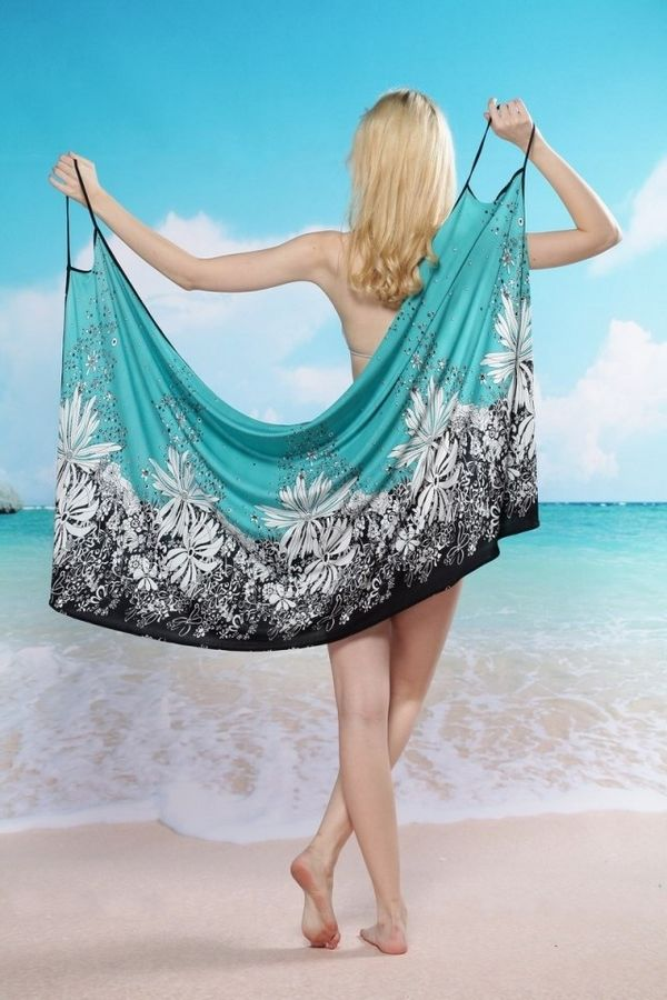Beach Cover Up Sexy Wrap Convertible Teal On Storenvy
