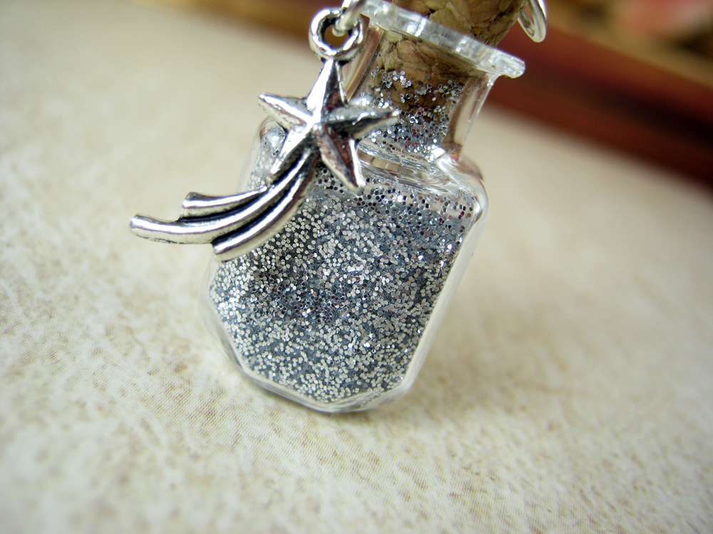 vial item glass bottle jewellery for empty hand necklace pendant blown charms miniature