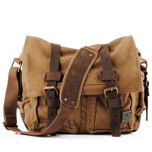 Vintage leather and canvas messenger bags mens · Vintage rugged ... 07d73431f6