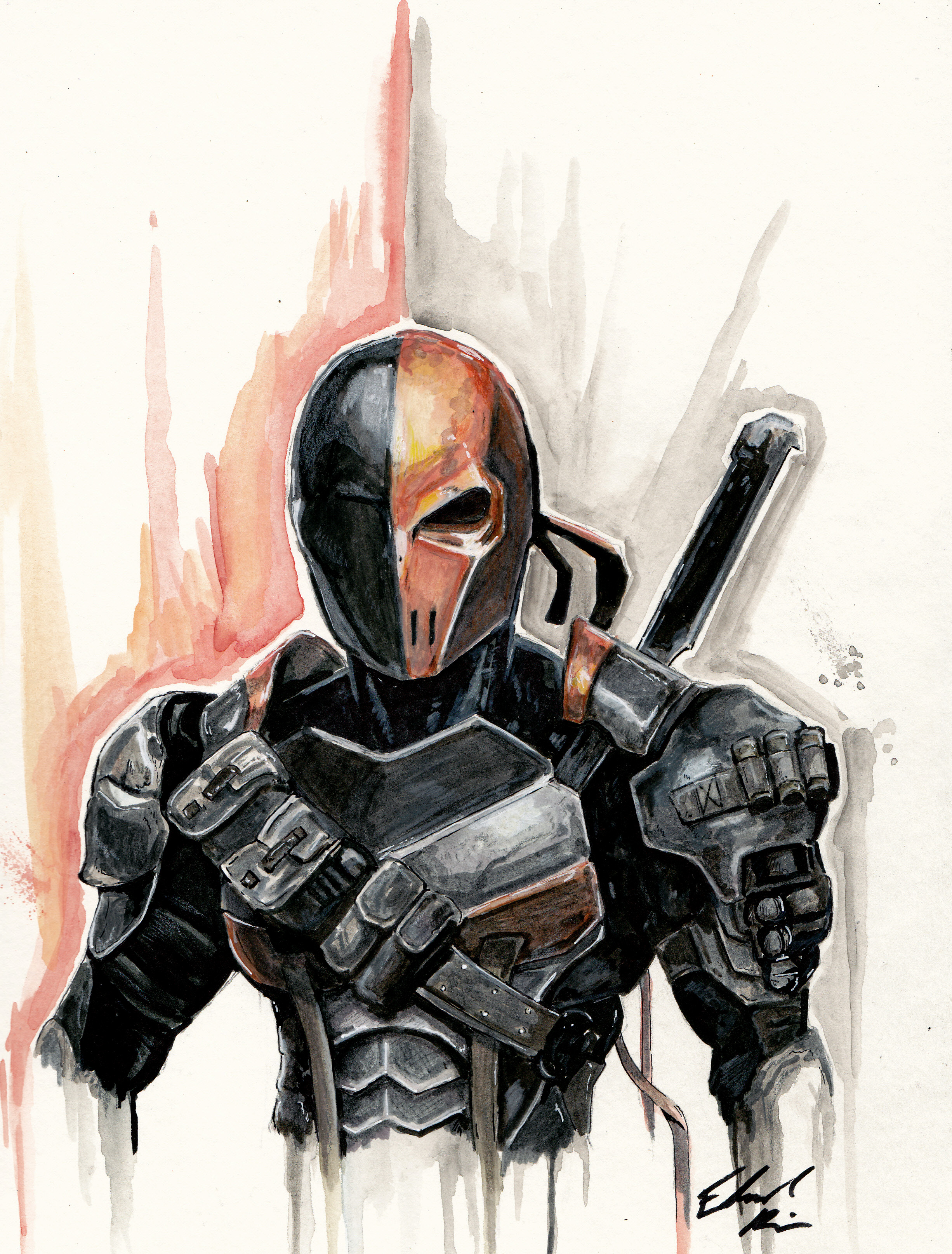 45abe0a9ec4 Deathstroke print · Taco Boy Designs · Online Store Powered by Storenvy