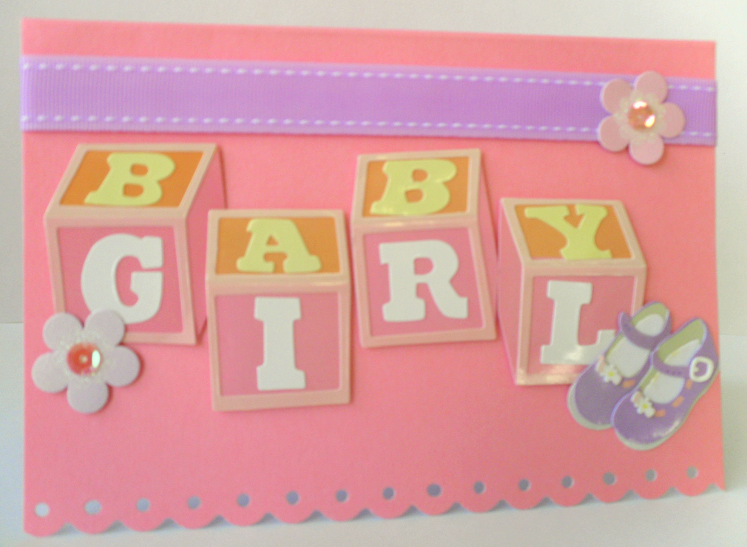 Box of Cards | Baby Girl Blocks card | Online Store ...