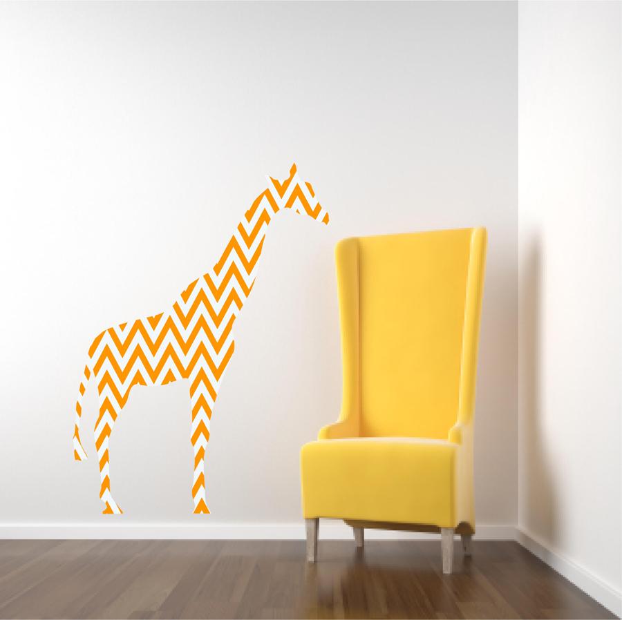 Nursery Decor Chevron Giraffe Fabric Wall Decal · Popitay Walls ...