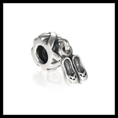 f8ceee9da Authentic pandora ballet slippers cz dangle .925 sterling silver european  charm bead - item no