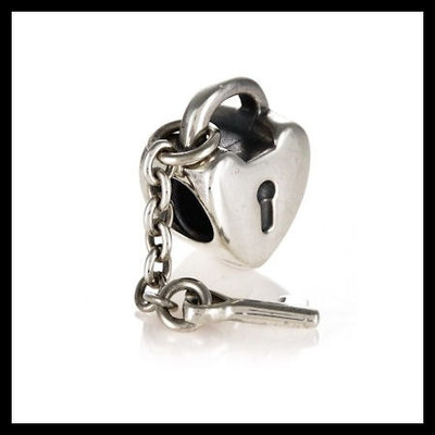 """2fea96bab Authentic pandora """"key to my heart"""" dangle .925 sterling silver  european charm"""