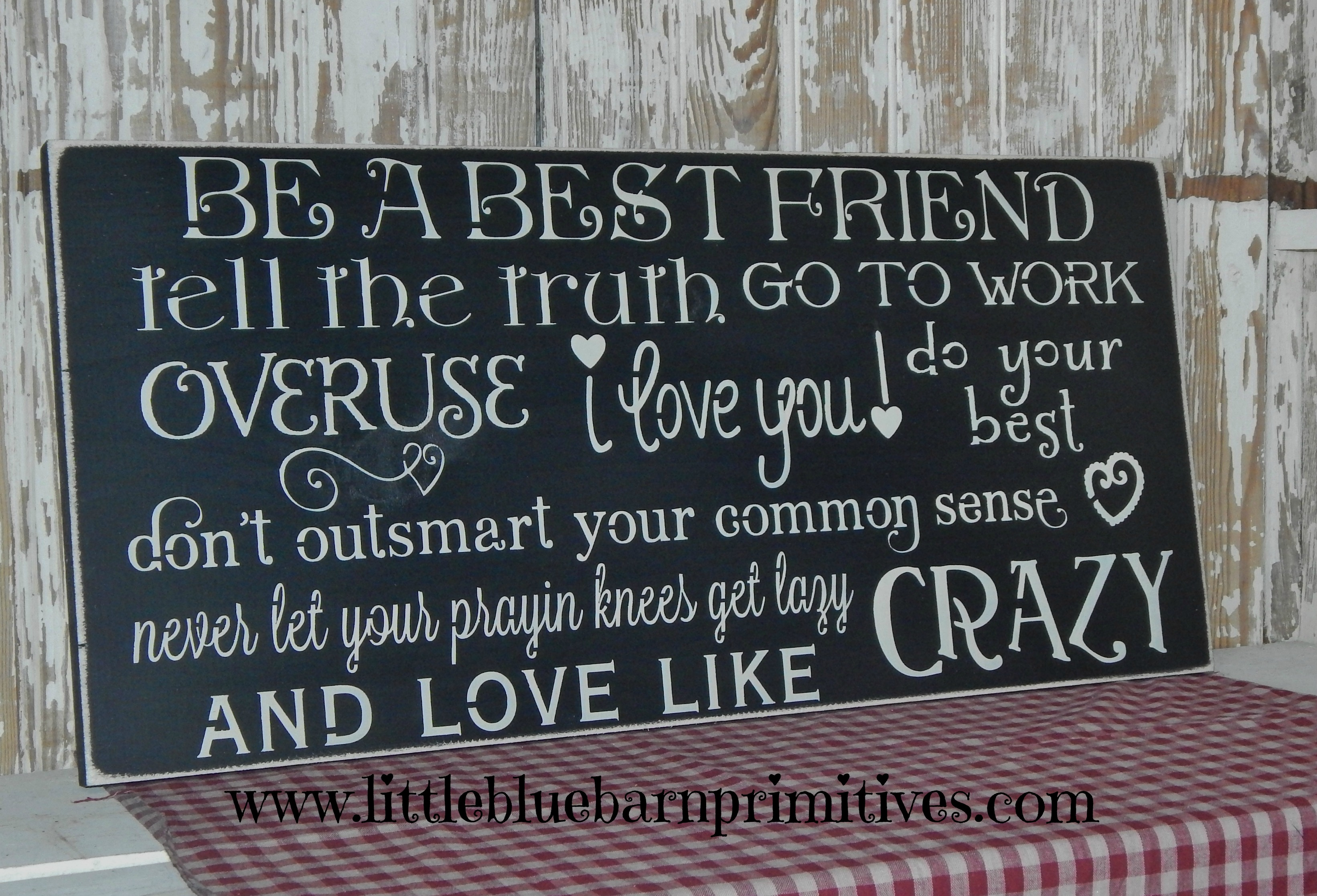 Be A Best Friend Love Like Crazy Wooden Sign On Storenvy