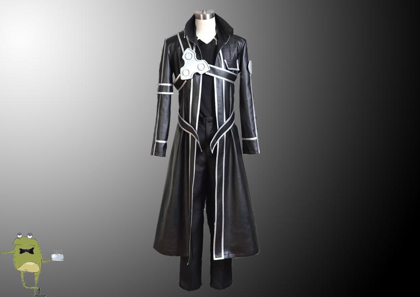 0d7052b3c04d SAO Kirigaya Kazuto Kirito Cosplay Costume Leather