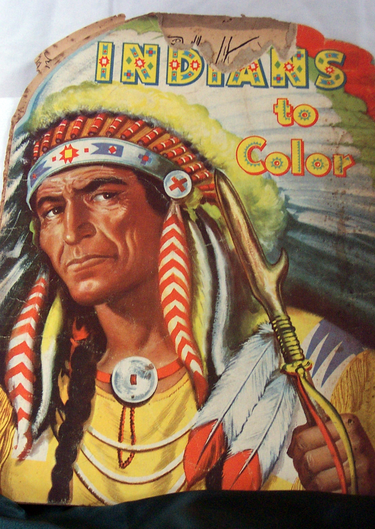 Extremely Rare Gem 1951 August Lenox Indian Coloring Book from A Hidden Gem