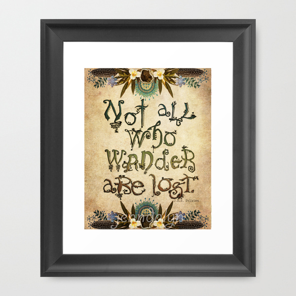 Lord Of The Rings Quotes Inspirational Motivation: 11 X 14 Paper Print, Lord Of The