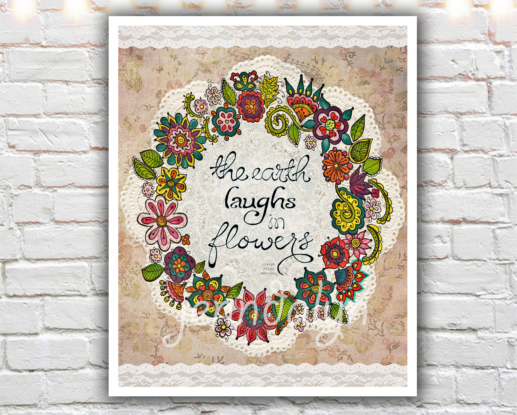 Natural Laughter 16 X 20 Paper Print The Earth Laughs In Flowers