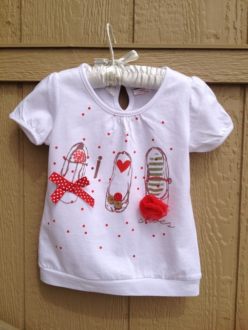 Summer Printed Shoes T Shirt For Baby Girls On Storenvy