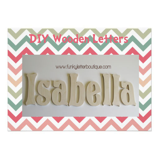 7 Inch Unfinished Wooden Wall Letters Diy From Funky Letter Boutique