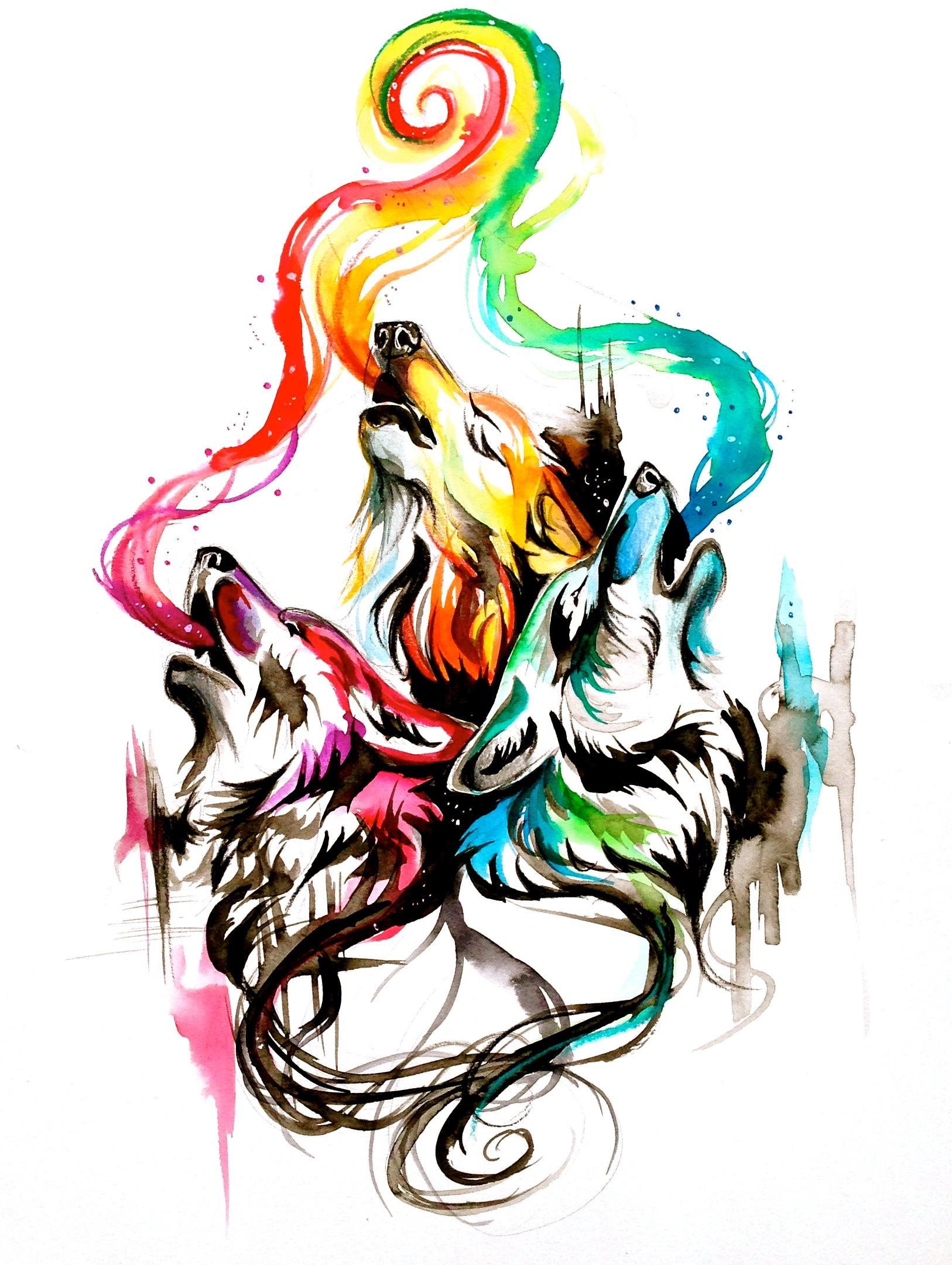 031feeb42 Howling wolf triad by lucky978 d7datnb original