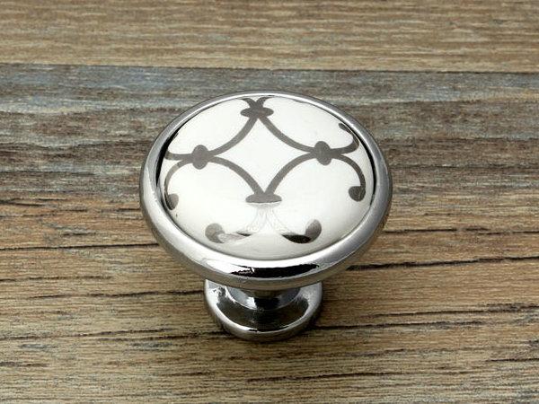 dresser knobs drawer knob pulls handles white silver cabinet knobs ceramic door lynnsgraceland. Black Bedroom Furniture Sets. Home Design Ideas