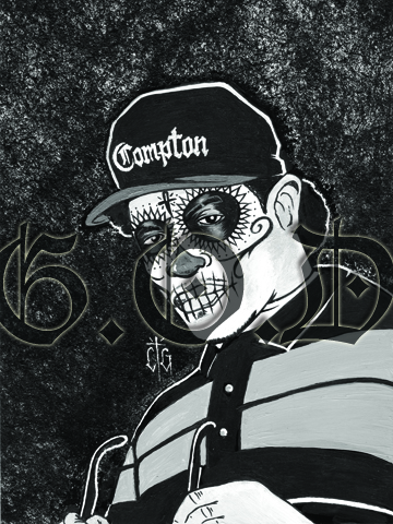 Day of the Dead Rappers: Eazy E from Grafitti OverDose
