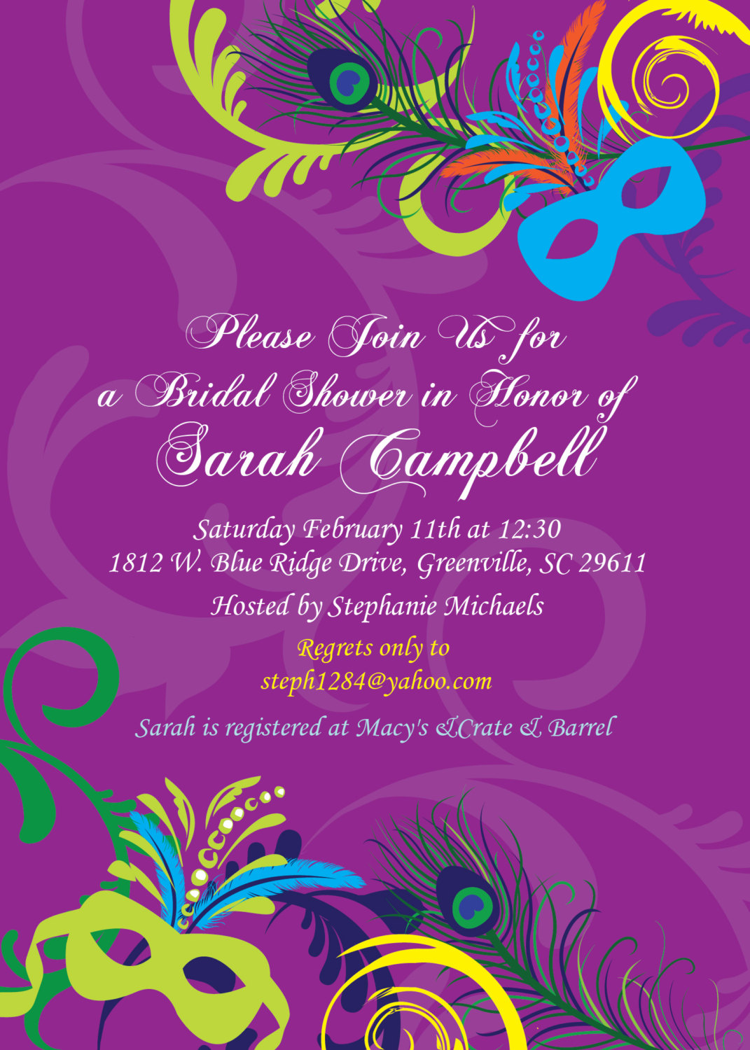 c22d0ccd8104 Bridal Shower Invitations