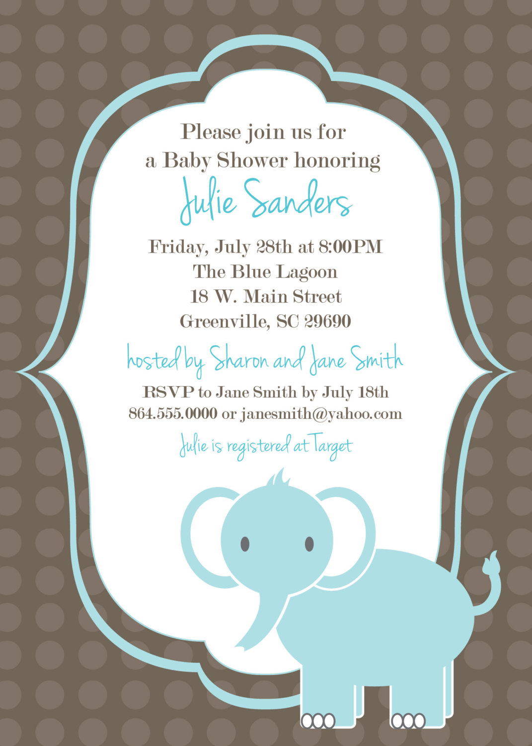 image relating to Printable Baby Shower Invites named Printable Kid Shower Invites, Elephant , Boy, Gentle Blue Customized, Fixed OF 10 versus OhCreativeOne, LLC