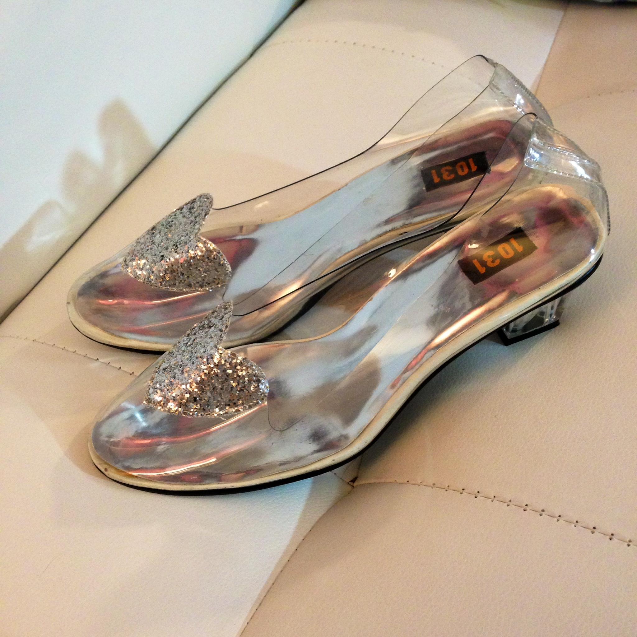 f95c1499012 1031 Clear Transparent Jelly Silver Sparkle Heart Kawaii heel ...
