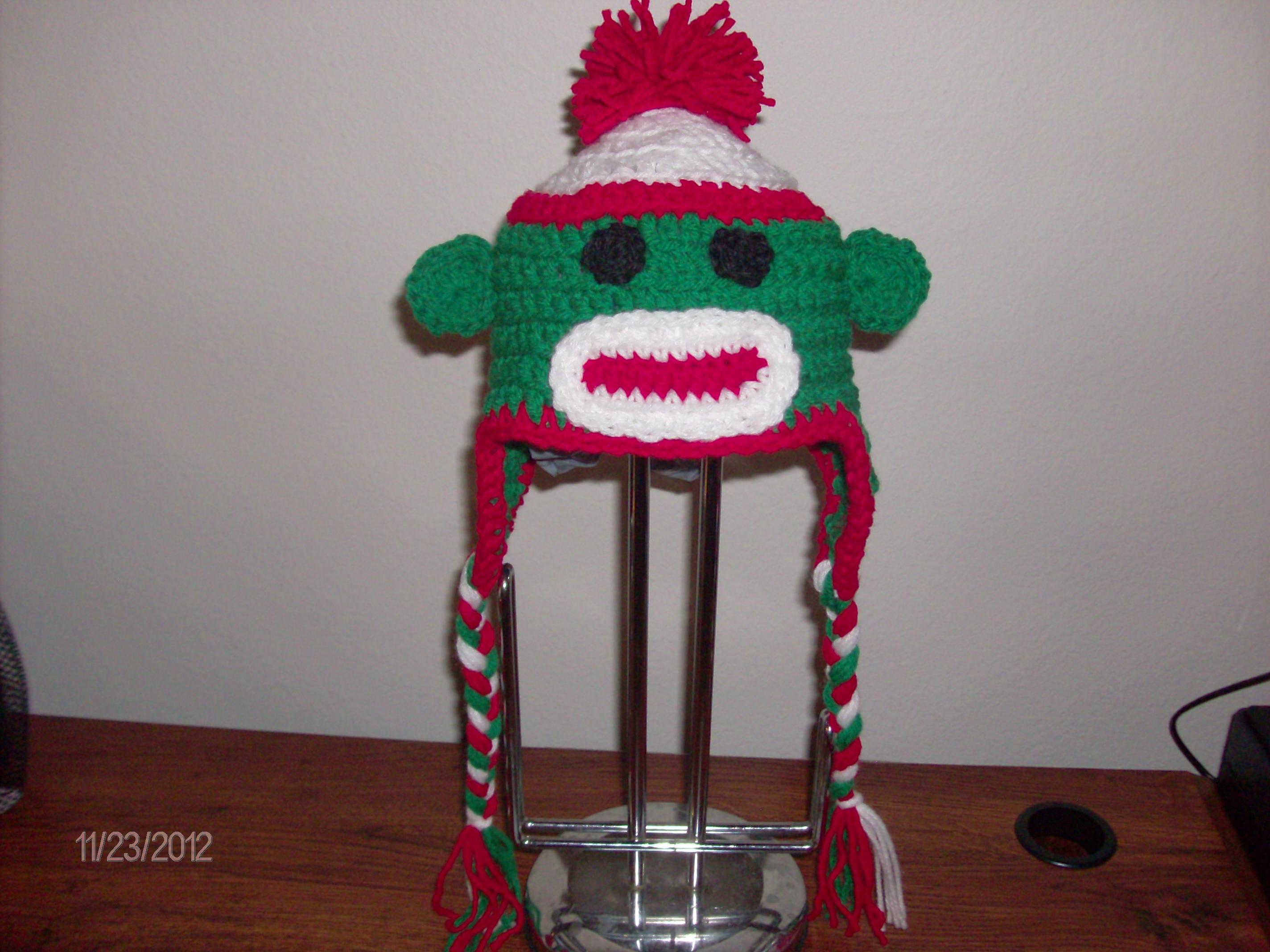 03886aec8 Christmas Sock Monkey Hat
