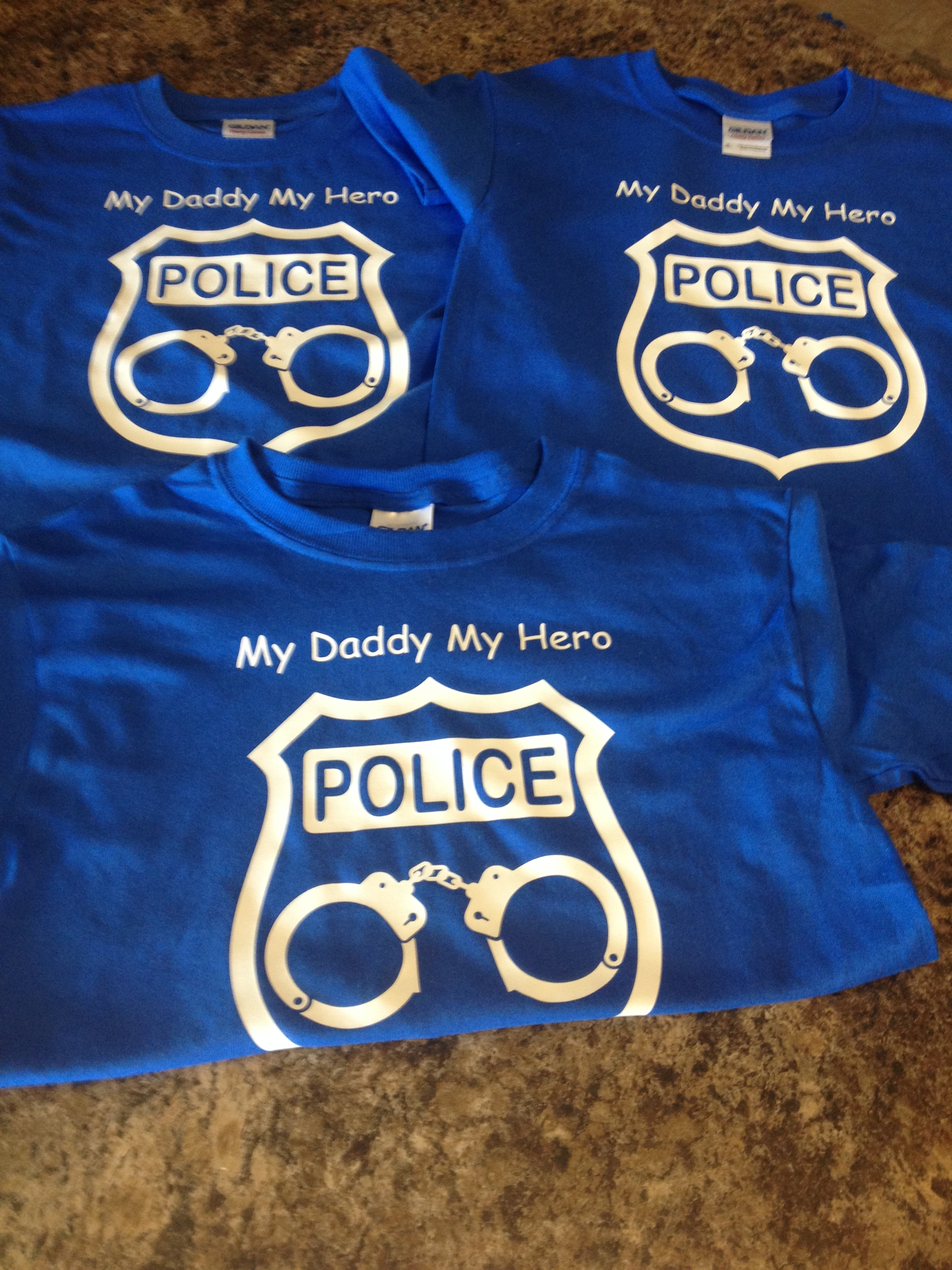 My Daddy My Hero Police 2t 4t Sold By Badge Wear On Storenvy