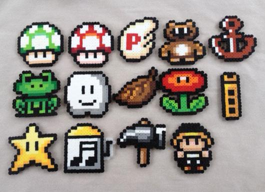 Super Mario Bros 3 Items Bead Sprites Jandrem Designs Online
