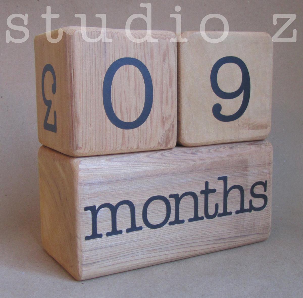 Baby Milestone Blocks Photo Prop On Storenvy