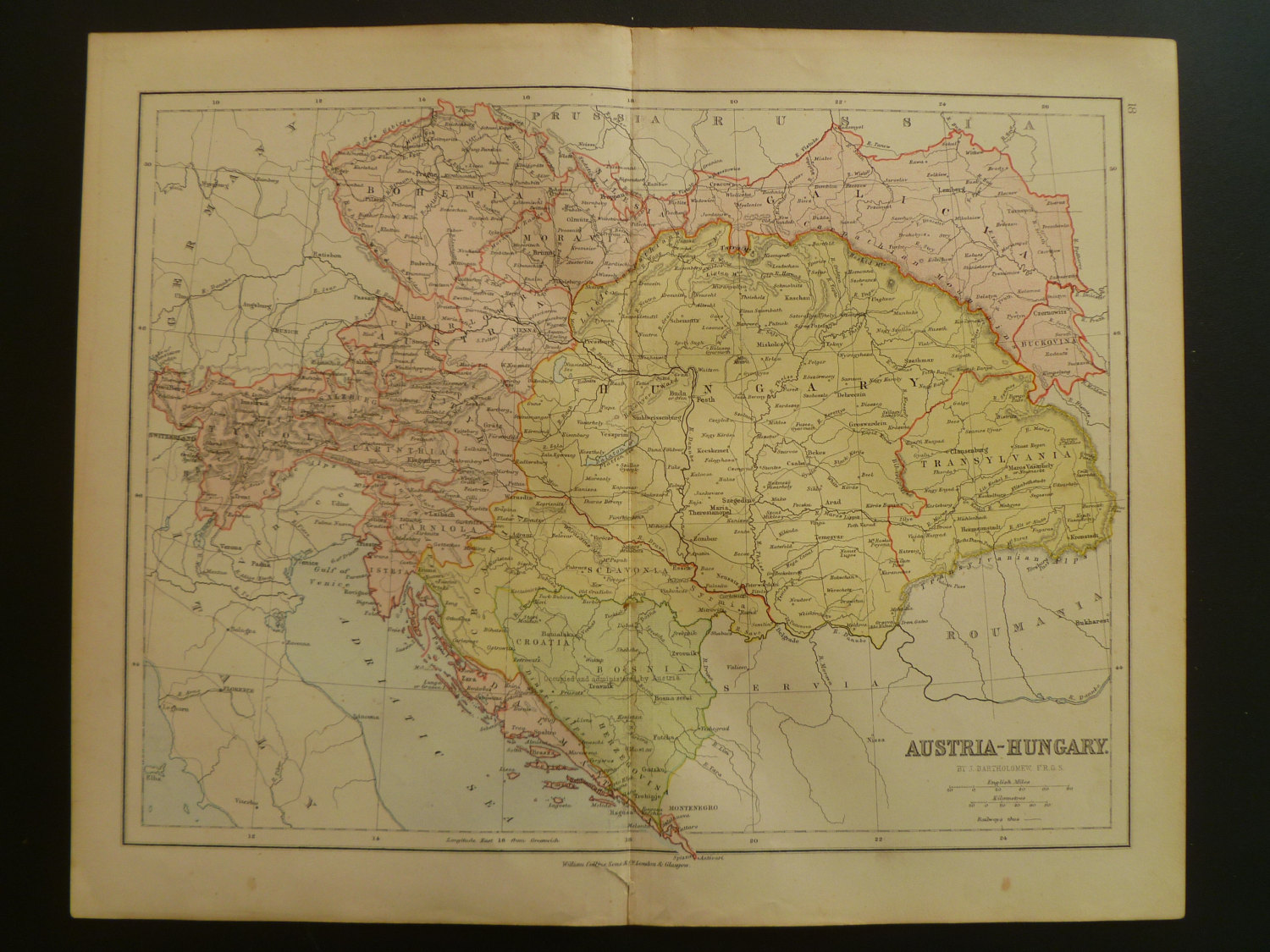 142 year old map of 1872 austria hungary original english antique il fullxfull576894712 paqz original gumiabroncs Gallery