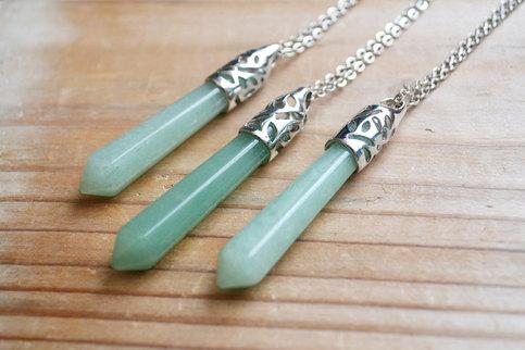 Jade Crystal Pendulum Necklace On Storenvy