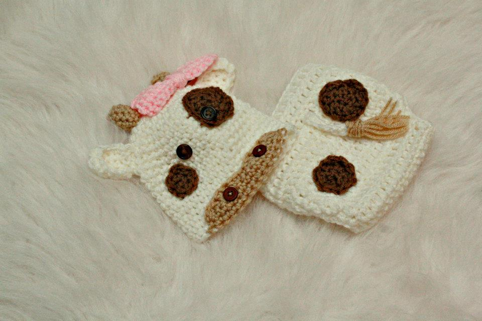 Crochet Cow Hat Diaper Cover Willow Blue Online Store Powered