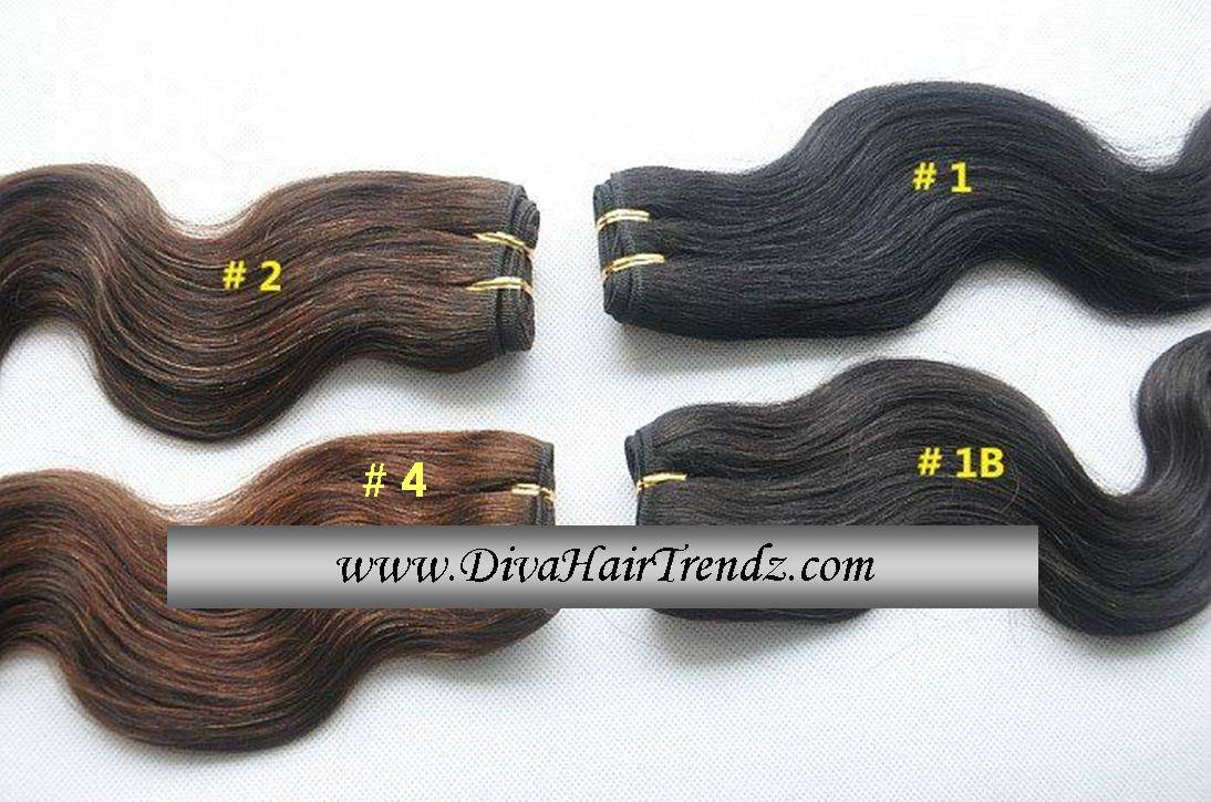 Four 4 16 Bundles Of Silky Indian Remy Body Wave Colors 1