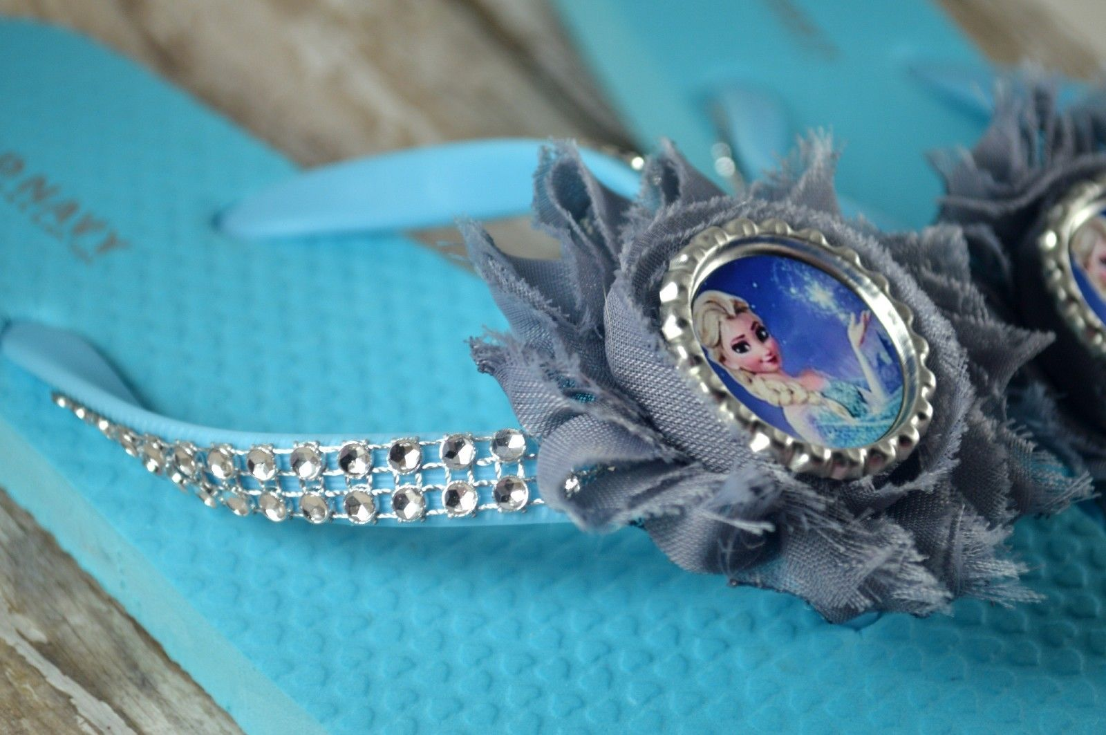 9ec50567bb45 Ice Blue Disney s Frozen Custom Made Girls Toddlers Old Navy Flip ...