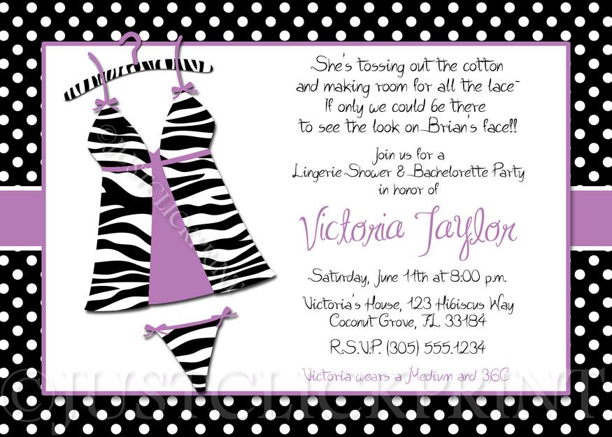 invitation wording for bachelorette and lingerie shower
