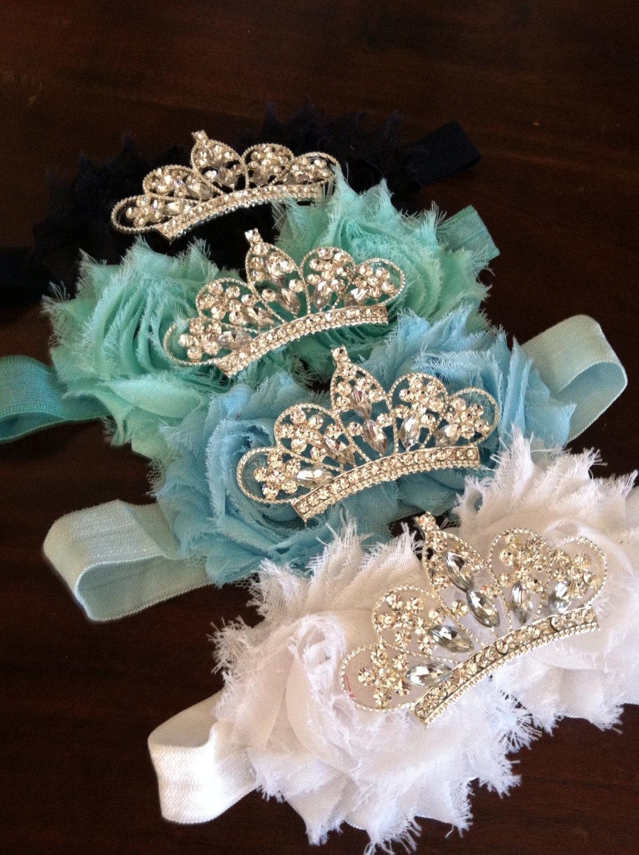 Baby Crown Headband Flower Tiara Rhinestone Baby