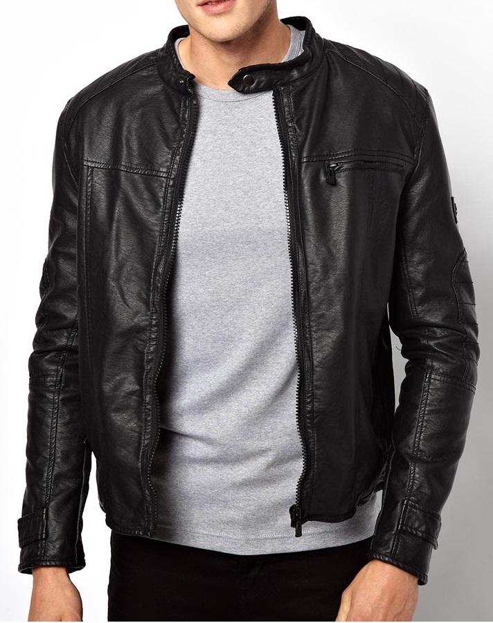 Mens Leather Jackets Motorcycle Bomber Biker Black Real Leather Jacket Men