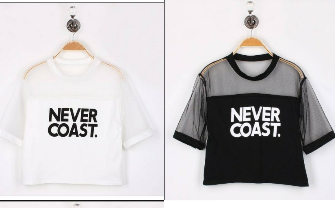 e088ea4e0b0eb Never Coast Mesh Crop-top · U Need Dat · Online Store Powered by ...