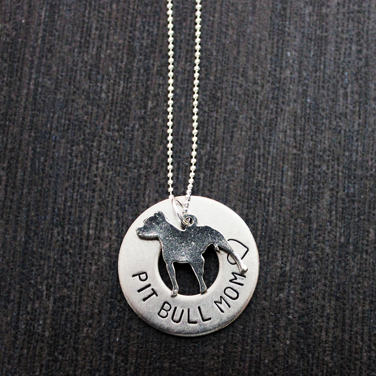 pitbull jewelry sted pit bull supporter necklace w pit bull charm 5661