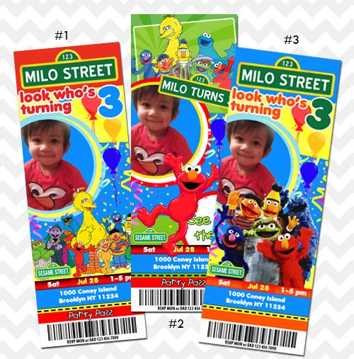 sesame street invitations on storenvy