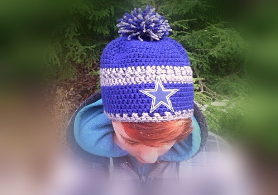 Dallas Cowboys Inspired Crochet Beanie Hat Great Gift Ideafootball