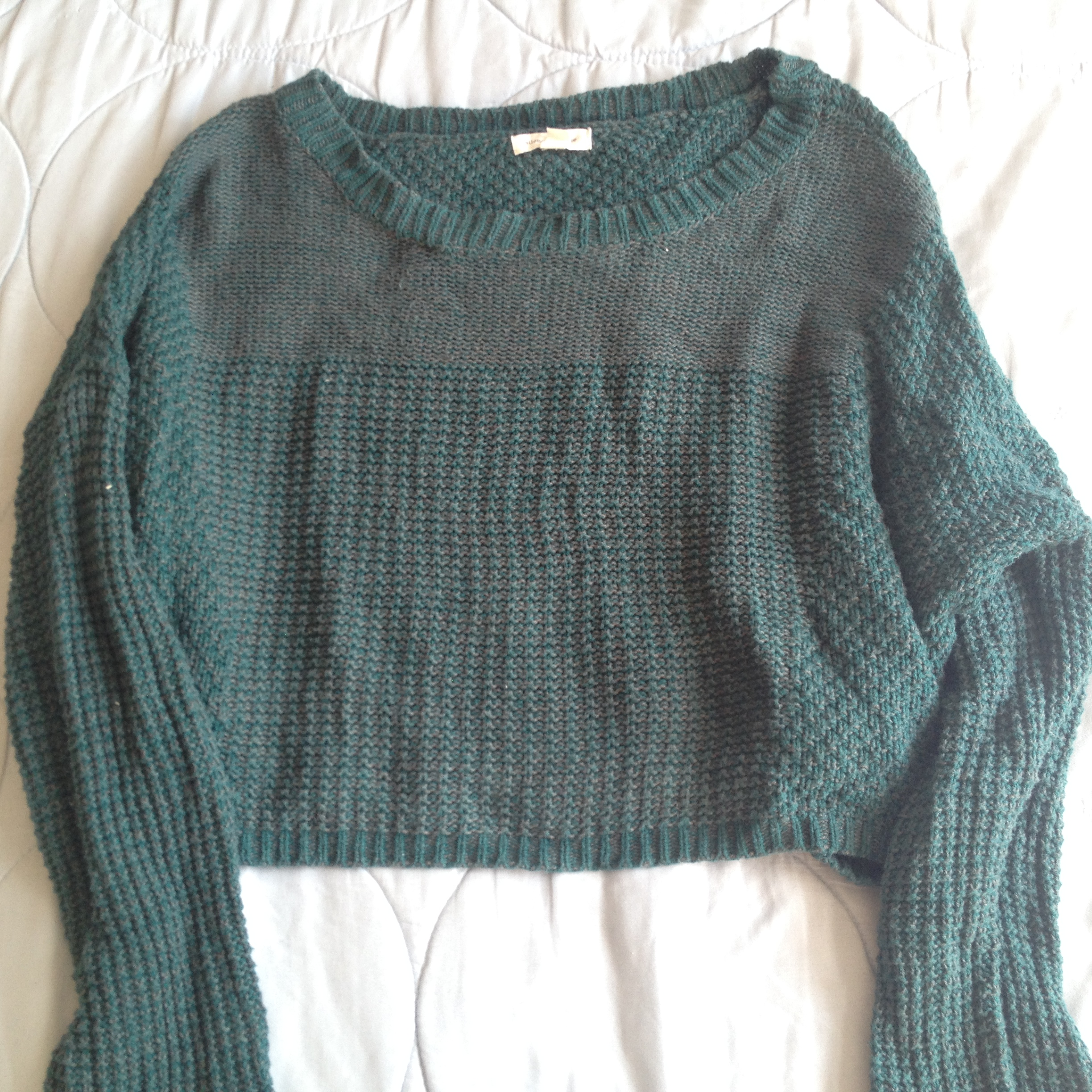 Urban Outfitters Knitted Green Crop Sweater on Storenvy b6f981fd0