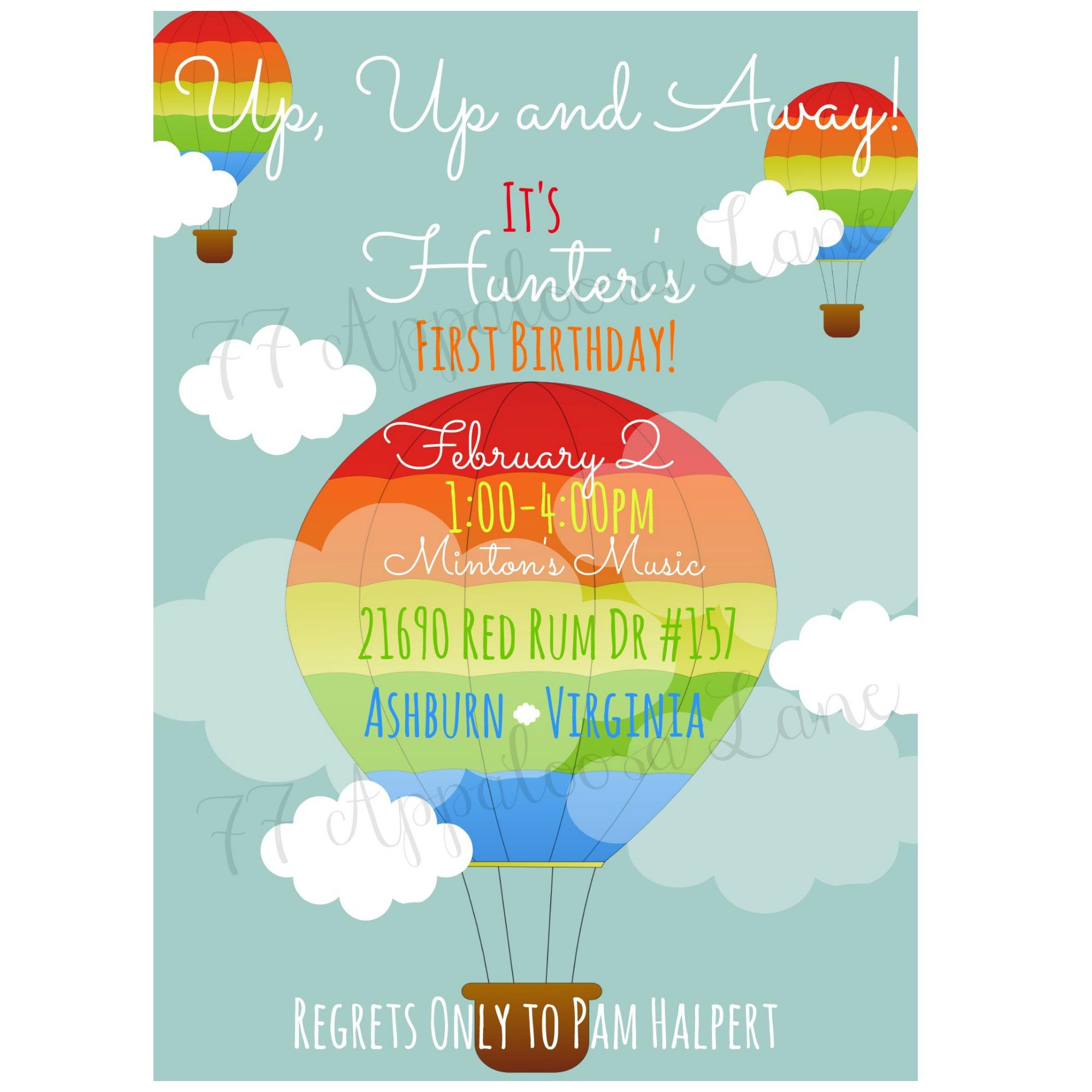 Up up away hot air balloon birthday invitation on storenvy birthdayinvitehotairballoon original filmwisefo
